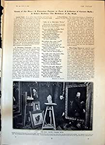 Copie Antique de Mme Alec Tweedie Author 1904 de Thaddee Styka de Peintre d'Enfant