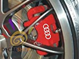 Audi ADESIVI PINZE FRENI PLIERS BRAKE PINCES DECAL FREINE (Bianco2)
