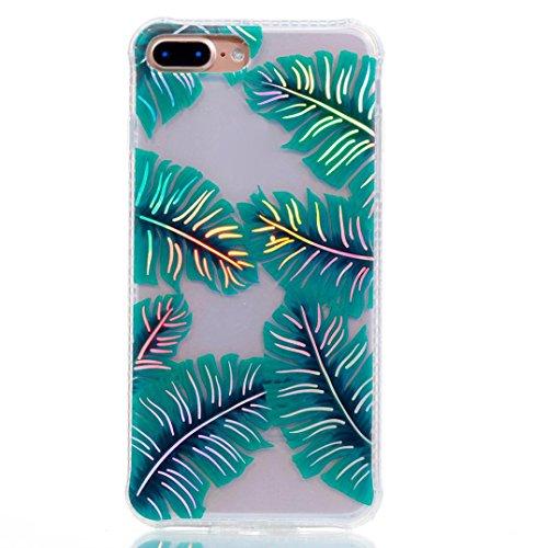 Ouneed® Für iPhone 8 plus 5.5 Zoll Hülle , Luxus Silikon TPU Blume Schutz Handy Hülle Case Tasche Etui Bumper für iPhone 8 plus 5.5 Zoll (B) A