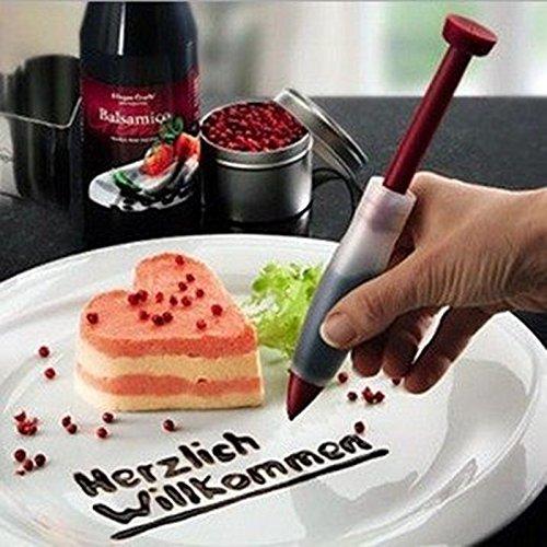 Silikon Spritzbeutel Düse Schokolade Teller Pen für Kuchen Cookie Gebäck Dekorieren Cake Decoration Pen (Professionelle Große Cookie)
