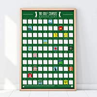 Gift Republic 100 Golf Courses Bucket List Poster, Green, N Applicable