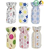 Aarushi Soft Feeding Bottle Cover Multicolor And Mix Print Pack Of 6