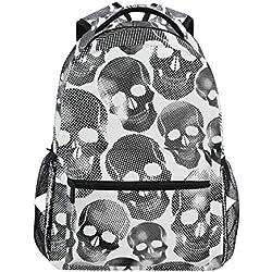 Ahomy - Escolar con diseño en color blanco y negro