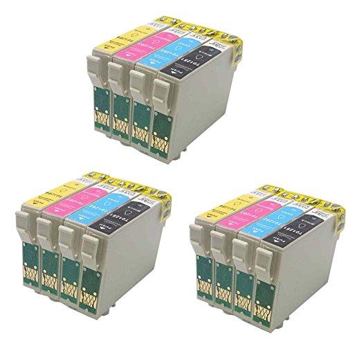 Generisches Kompatible Tintenpatrone als Ersatz für Epson T1281 T1282 T1283 T1284 (3x Schwarz, 3x...