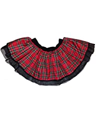 Red Tartan Kilt Tutu Skirt Fancy Dress Scottish Goth Punk Mini Ladies