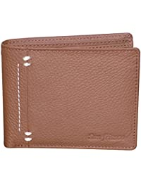 Style98 Pure Leather Brown Men' Slim Wallet With Card Holder & Coin Pocket - B01LZG34Y4