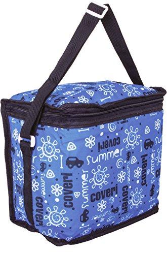 Enrico coveri mare borsa frigo termica per bambini, perfetta per trasportare il loro pranzo e la loro merenda, capacità 8 litri, spessore 7mm (azzurro)