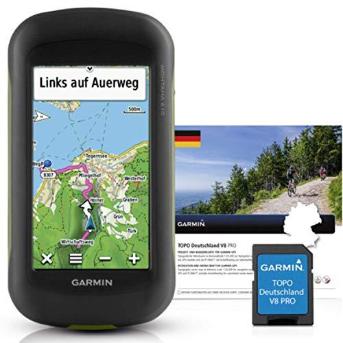 Garmin Montana 610 Outdoor-Navigationsgerät mit TOPO Deutschland V8 PRO, hochauflösendem 4\'\' Touchscreen-Display und ANT+ Konnektivität