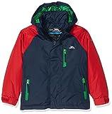 Trespass Lomont, Navy, 11/12, Warme Gepolsterte Wasserdichte Jacke mit abnehmbarer Kapuze für Kinder / Jungen 2-12 Jahre, 11-12 Jahre, Blau