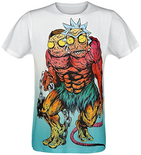 Rick & Morty Monster Camiseta Multicolor XL