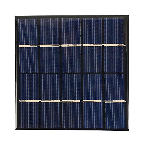 Haihuic 1,2 W, 5 V, 240 mAh Epoxy Solar Panel/Solarzelle für DIY Portable Power, Ladegerät, Kit für Batteriestrom Power-solarzellen