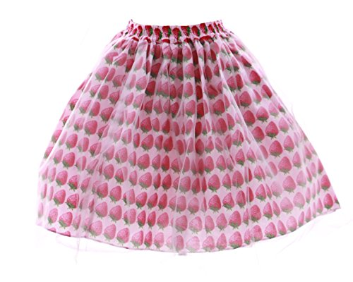 JL-594 pink rosa Erdbeer Strawberry Harajuku Tutu Rock Gothic Lolita stretch (Stretch (Kostüme Rock Prinzessin Punk)