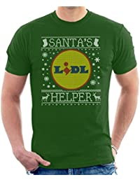 Coto7 Santas Lidl Helper Christmas Jumper Knit Pattern Mens T-Shirt