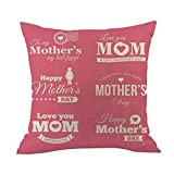 TianranRT Mère 's jour câlin taie d'oreiller heureux mères' jour canapé lit accueil décoration festival oreiller cas coussin couverture (J)