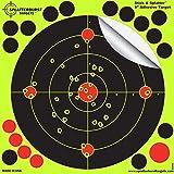 """50Pack–20,3cm Splatterburst """"Stick & Splatter"""" Reaktiv Klebstoff Ziel für das Schießen - Leicht sehen Sie Ihre bullet Löcher platzen helles fluoreszierendes Gelb beim Aufprall - Ausgezeichnet für alle Gewehre, Pistolen, Luftgewehre und Airsoft"""