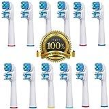 Dr Kao 8 Stück (2 x 4) Aufsteckbürsten Kopf Ersatz für Zahnbürste Oral B Dual Clean . Komplett Kompatible mit den Modelle Elektro-Zahnbürsten Braun Oral-B: Vitality, Professional Care, Triumph, Advance Power, TriZone und Smart Series (12)
