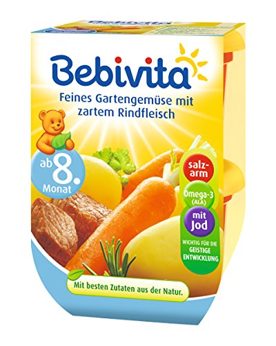 Bebivita Feines Gartengemüse mit zartem Rindfleisch, 2 x 220g