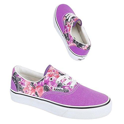 Chaussures femme, yj876009–7, les loisirs chaussures à lacets Sneakers Violet - Violet