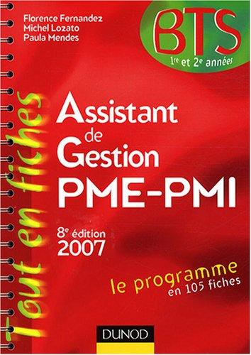 Assistant de Gestion PME-PMI BTS 1e et 2e années par Florence Fernandez