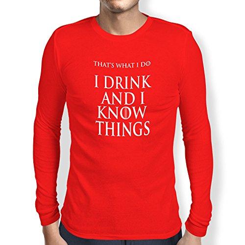 NERDO - That's what I do - Herren Langarm T-Shirt Rot