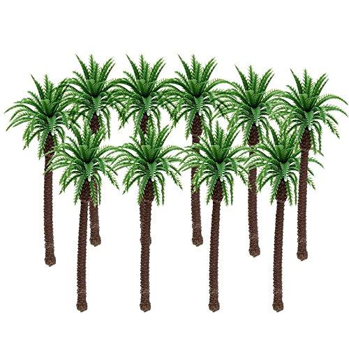 10 unds Miniaturas 11x 5 cm palmeras para maquetas, casas de muñecas,...