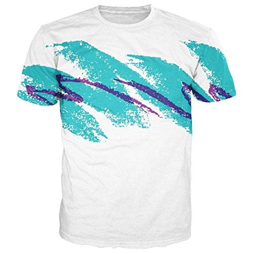 Leapparel Unisex 80's Jazz Solo Cup Gedruckt Cool Vintage Retro Grafik T-Shirts Tops XXL (Xxl Herren Shirt Retro)