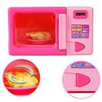 Homeofying Portable Simulation Electric Microwave Pretend Role Play Toy Food Christmas Gift For Kids Children Boy Girl