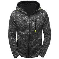 Juliyues Herren Sweatshirt,Mode Herren Slim Zipper Sweatshirts mit Kapuze Freizeit Sport Strickjacke Mantel Jacke Outwear