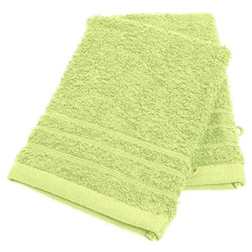 Lot de 2 gants de toilette uni coloris menthe