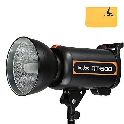 Godox QT600600W GN76Hohe Geschwindigkeit Studio Strobe Flash Head Lampe 220V Recycling 0.05-1.2S Zeit + letwing Digital Tuch (qt-600) 600w Flash