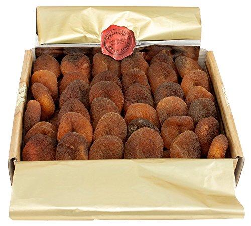 Bio Aprikosen Getrocknet (Geschenkbox 480g) Gute Qualität | Ungezuckert | Ungeschwefelt | GVO Frei | Vegan | Roh | Türkische Früchte | Trockenobst | Getrocknete Früchte von Avicenna BIO Food