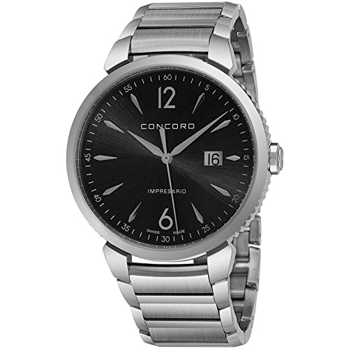 Concord Men's Impresario 41mm Steel Bracelet & Case Swiss Quartz Watch...