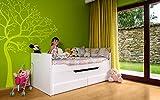 Relita EB1195117-B90 Funktionsbett RONNY 2 Liegeflächen und 2 Schubladen Liegefläche 90 x 200 cm, 205 x 90 x 95 cm, weiß