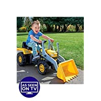 TREMENDOUS TOYS BIG YELLOW PEDAL DIGGER TRUCK RIDE ON FOR AGES 3 PLUS