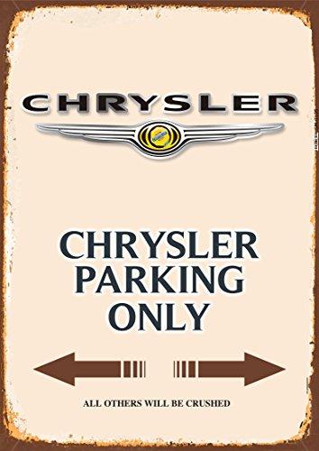 Chrysler Parking only blechschild auto motorrad park schild