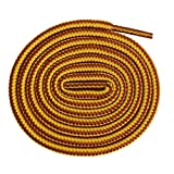 Xiazw Runde 90-180 cm Schnürsenkel Schuhband für Wanderschuhe Arbeitsschuhe Wandern,2 Paar (140cm, Gelb Tan)