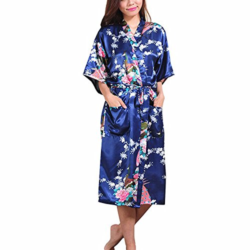FY Mujeres Señoras Kimono Robe Albornoz Larga Bata