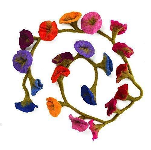 Paper High Filz Blumen-Girlande - Mehrfarbig ( Ca. 160 cm Lang)