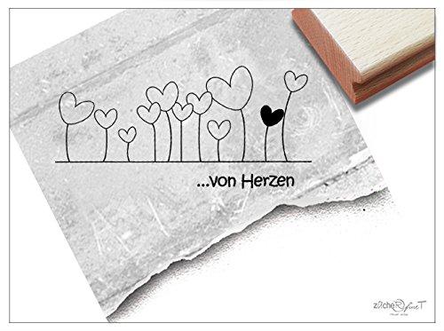 Stempel - Textstempel .VON HERZEN ♡ - Hübscher Motivstempel für Herzensangelegenheiten :) - Bildstempel von zAcheR-fineT