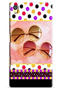 Omnam Shades Pattern With Coloful Background Printed Designer Back Cover Case For Sony Xperia Z5 Premium