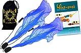 Pro ANGEL WINGS Poi Set (Blau) Flames N Games Spiral Poi + Kid Poi DVD (in Deutsch) +Reisetasche. Swinging Poi und Spinning Pois! Pois für Anfänger und Profis.