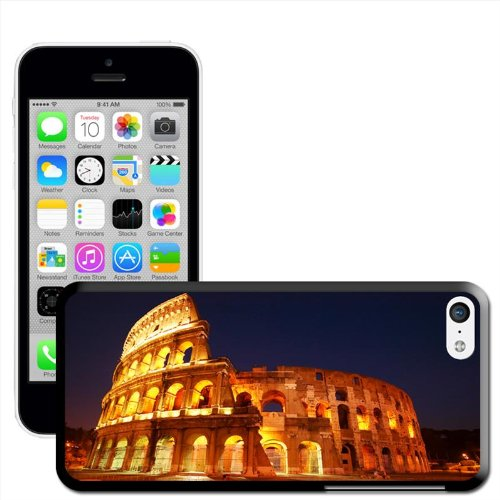 Roman Colosseum in Rome Italy Coque arrière rigide pour Apple iPhone modèles, plastique, iPhone 5C