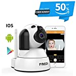 FREDI Pet Camera, Wireless Camera,Wifi Dog Camera,Baby Camera Monitor Wifi,Security House Camera Indoor,Surveillance IP Camera with IR Night Vision/Two-way Audio/Motion Detection Pan/Tilt