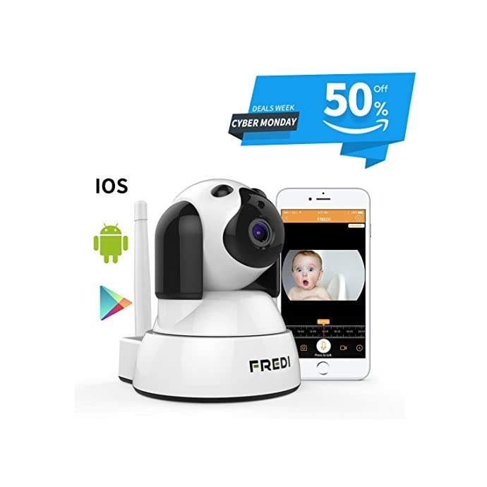 FREDI Pet Camera, Wireless Camera,Wifi Dog Camera,Baby Camera Monitor  Wifi,Security House Camera Indoor,Surveillance IP Camera with IR Night