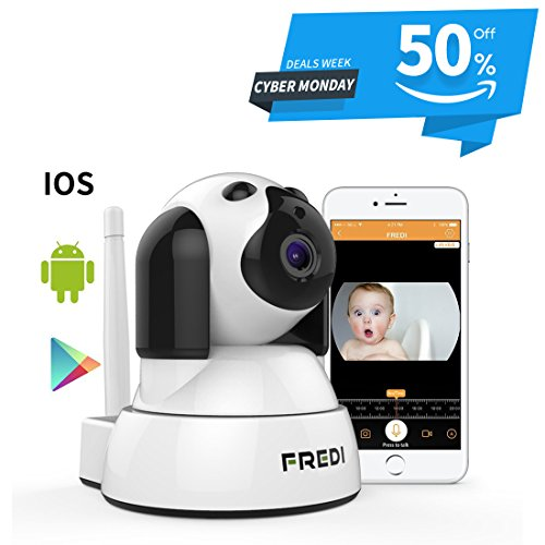 Wireless Wifi ip Camera FREDI 720P HD Surveillance Security Baby Monitor Camera With Two-Way Talking,Infrared Night Vision,Pan Tilt,P2P Wps Ir-Cut Nanny Camera Motion Detection 51vpeF6CitL