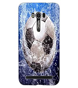 ColourCraft Football in Water Design Back Case Cover for ASUS ZENFONE GO