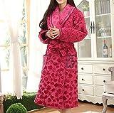 Automne Et Hiver Femmes Rembourré Coton Chemise De Nuit Chaude Longue Robe Peignoir Impression Super Confortable Nouvelle Mode