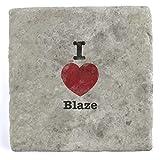 I Love BLAZE–mattonelle di marmo bevanda sottobicchiere, 10 x 10 cm