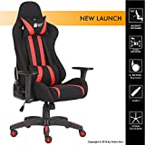 #10: Green Soul Gaming/Desk Chair (Beast Series) (GS-600/Black-Red) (Fabric + PU Leather, 3D Armrests, Class 4 Hydraulic Piston, 60 mm Dual Caster, Head & Lumbar Pillows Included)