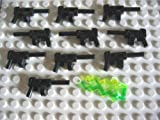 LEGO® STAR WARS - WAFFEN - Waffenset mit 10 automatischen Maschinenpistolen und 1 seltenen Machtblitz in grün - Tommy Gun / MP / Blaster / Gewehre / Pistolen / Gun's - LEGO